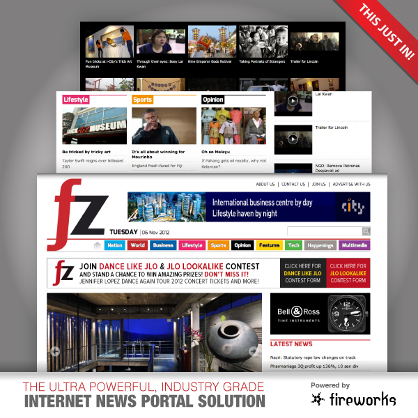 News Release : Fireworks launches FZ.com news portal. | Fireworks ...